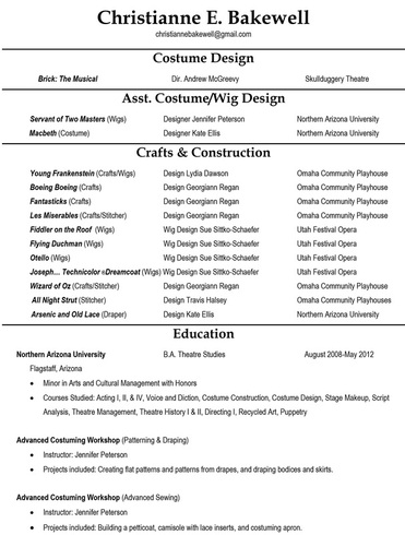different styles of resumes - Apmayssconstruction