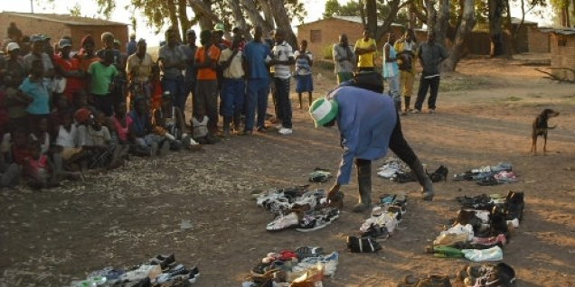 Distributing the shoes