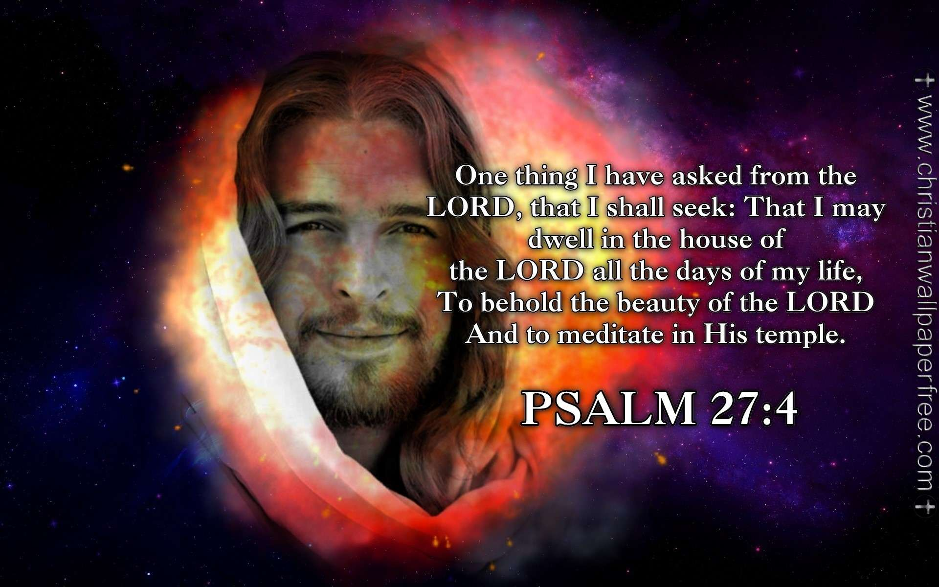 Free Bible Quotes Wallpaper Psalm 27 Verse 4 Nas
