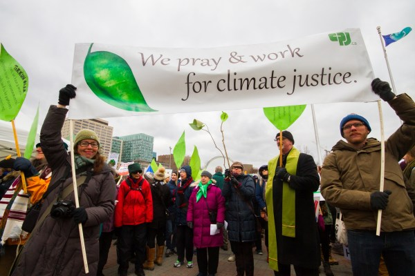 Faith groups join the 100% Possible March for Climate Solutions and Justice in Ottawa on November 29, 2015. Photo Credit: Jim McIntyre, Citizens for Public Justice.