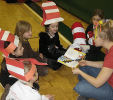 Older Kids Read Seuss to Younger Kids