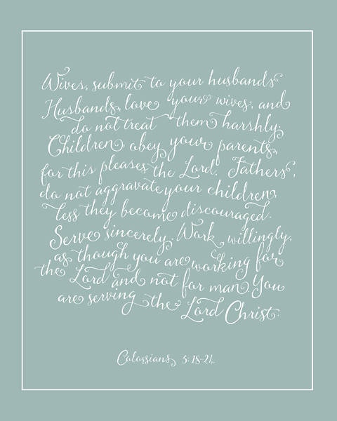 Rules for a Christian Household \u2013 duckegg \u2013 Christie Lacy