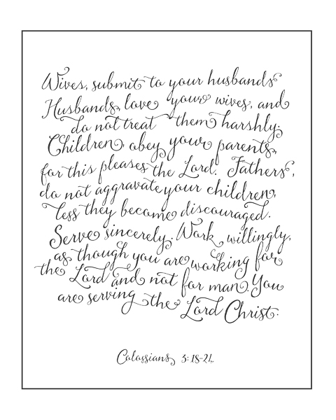Rules for a Christian Household \u2013 white \u2013 Christie Lacy