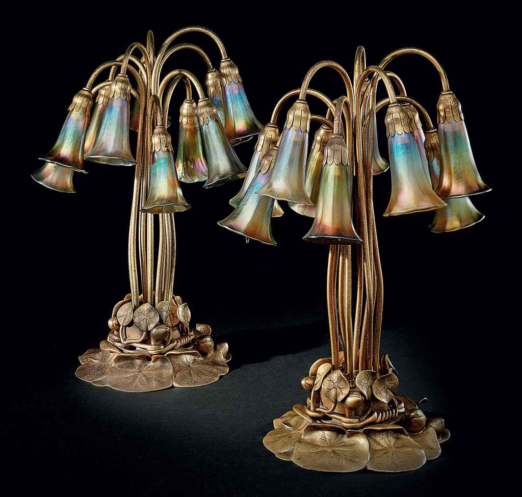 TIFFANY STUDIOS , A FAVRILE GLASS AND GILT