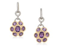 AMETHYST AND DIAMOND EARRINGS, Christies AMETHYST AND ...