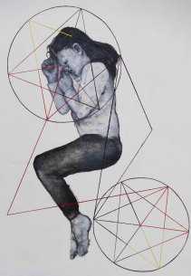 ink and oil on canvas, 160 x 120 cm, 2015