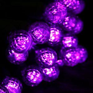 Black Aesthetic Wallpaper 50 Round G12 Purple Led Christmas Lights