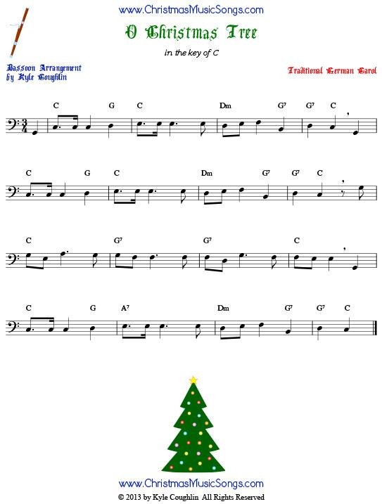 O Christmas Tree for bassoon - free sheet music