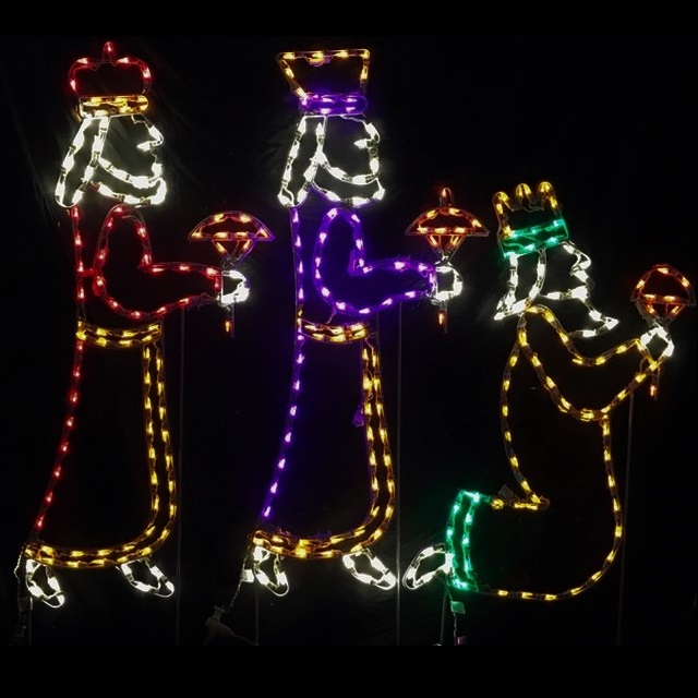 Lighted Outdoor Decorations - Lighted Nativities and Mangers - lighted outdoor christmas decorations