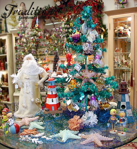 Sea Themed Ornaments and Home Decor - beach themed christmas decorations