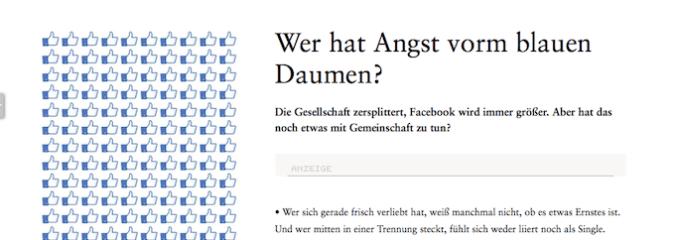 Facebook: Wer hat Angst vorm blauen Daumen?