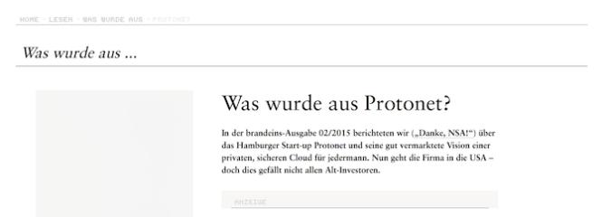Was wurde aus Protonet?