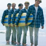 The Beach Boys surfing tutorial courtesy Capitol Records. Photo Ken Veeder (1962)