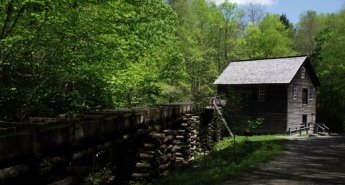The Mingus Mill, Mingus Creek Trail, Great Smoky Mountains National Park, North Carolina
