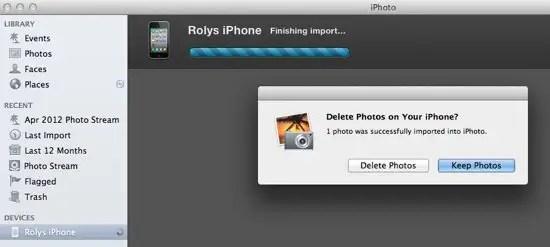iPhoto Step 3 - Keep or Delete Photos