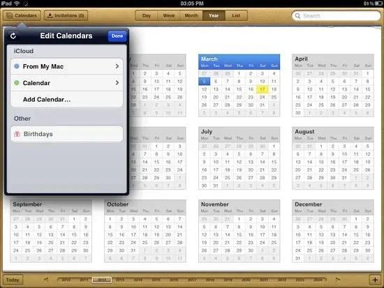 Calendar iPad
