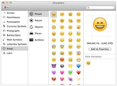 Emoji Character Viewer