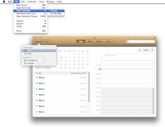 iCal on the Mac