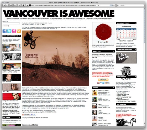 VancouverIsAwesome Vanier Park Dirt Jumps story