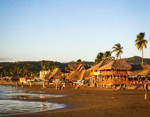 San Juan del Sur is a beautiful little surf town... Looking down the main beach.