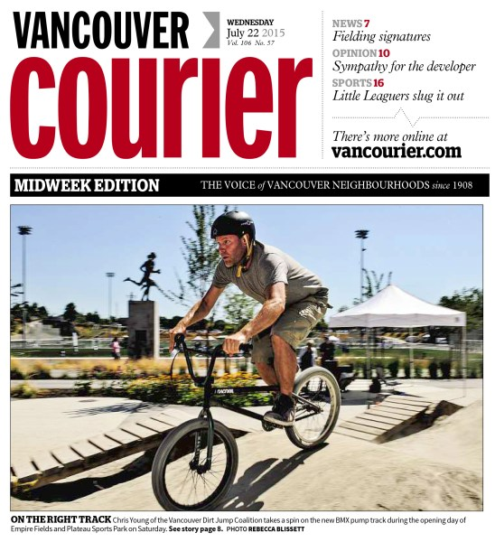 I was pretty surprised to find out that I was on the cover of the Vancouver Courier. That never really came up when we were shooting the photos.