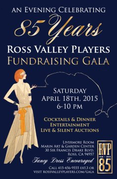 ChromaKit Graphic Design Ross Valley Players Fundraising Gala poster