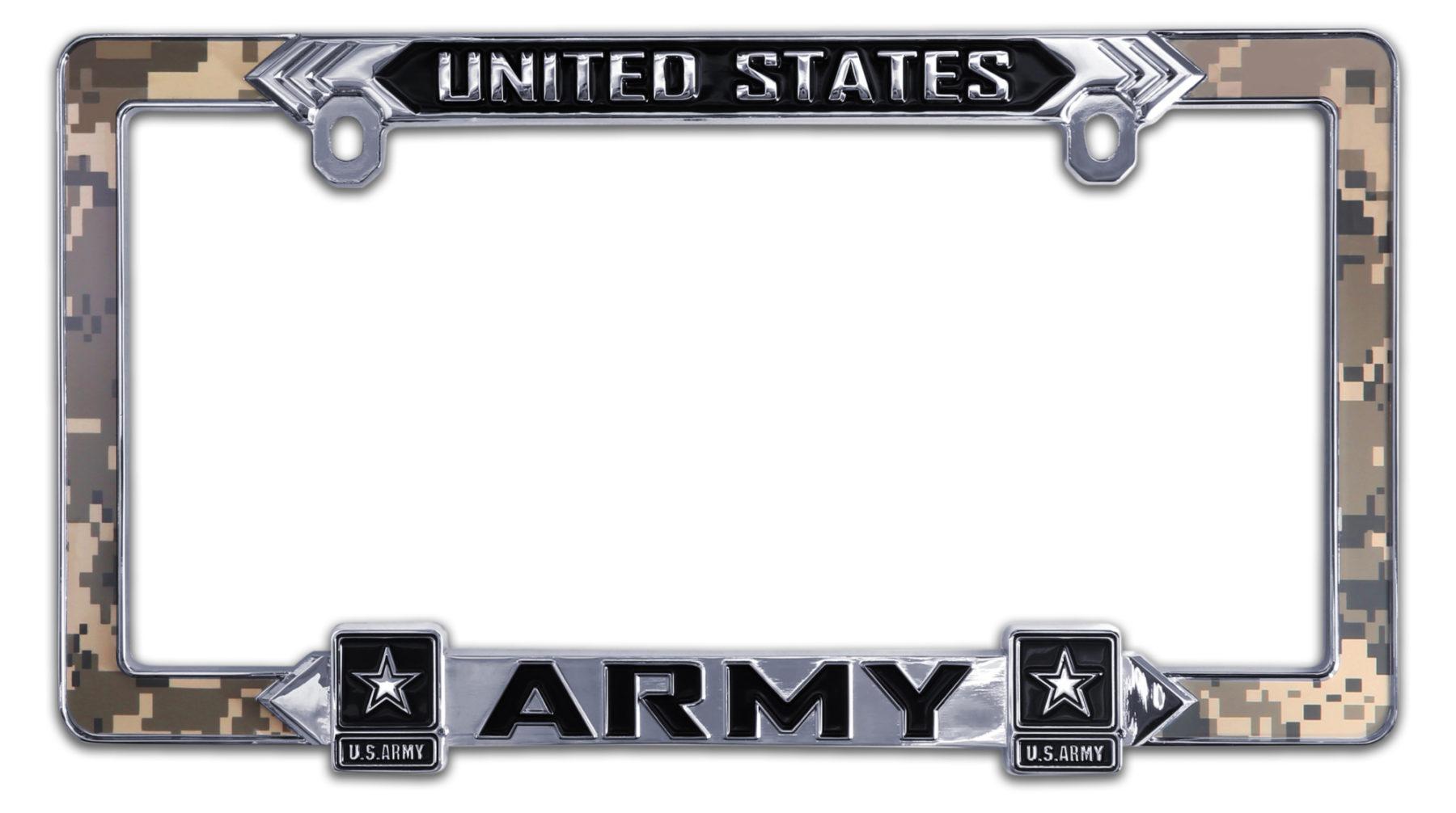 Army 3d License Plate Frame Elektroplate