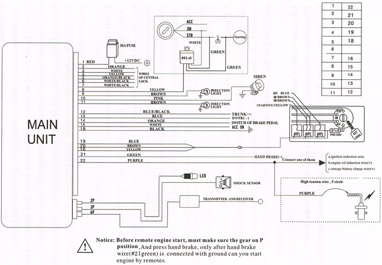 car central lock wiring diagram