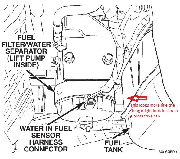 grand am fuel filter location