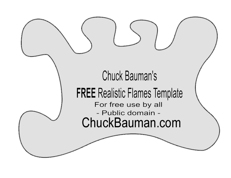 FREE!! Real Flames  Fire Airbrushing Templates Stencils FREE!!
