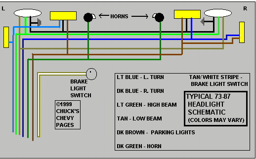 Chevy Truck Tail Light Wiring - Wiring Diagrams