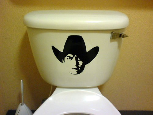 Paizano's Pizza - the men's room toilet