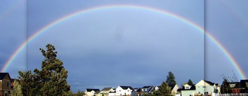 May rainbow in Bend