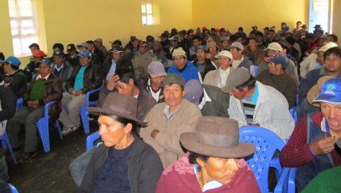 Pleno del Congreso Multisectorial y Campesino de Chungui