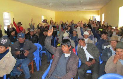 Voto en contra de la minería en el distrito de Chungui