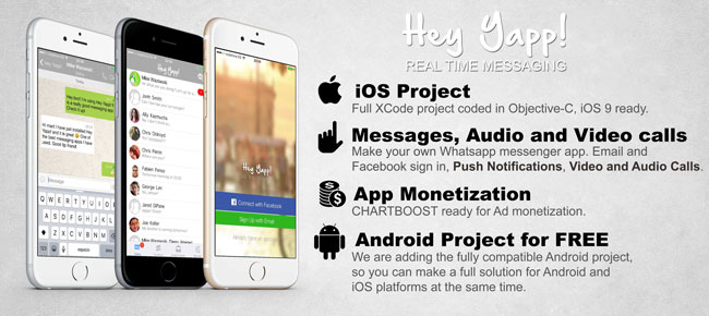 Buy Hey Yapp! (WhatsApp App Template) - iOS  Android Chat and - Free App Template