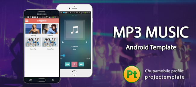 Buy MP3 Music Template for Android Music Chupamobile