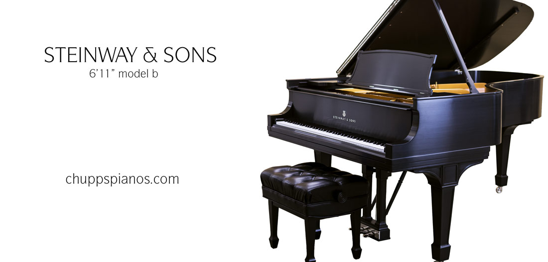 1925 Steinway Model B Grand Piano Satin Ebony - Fully Restored