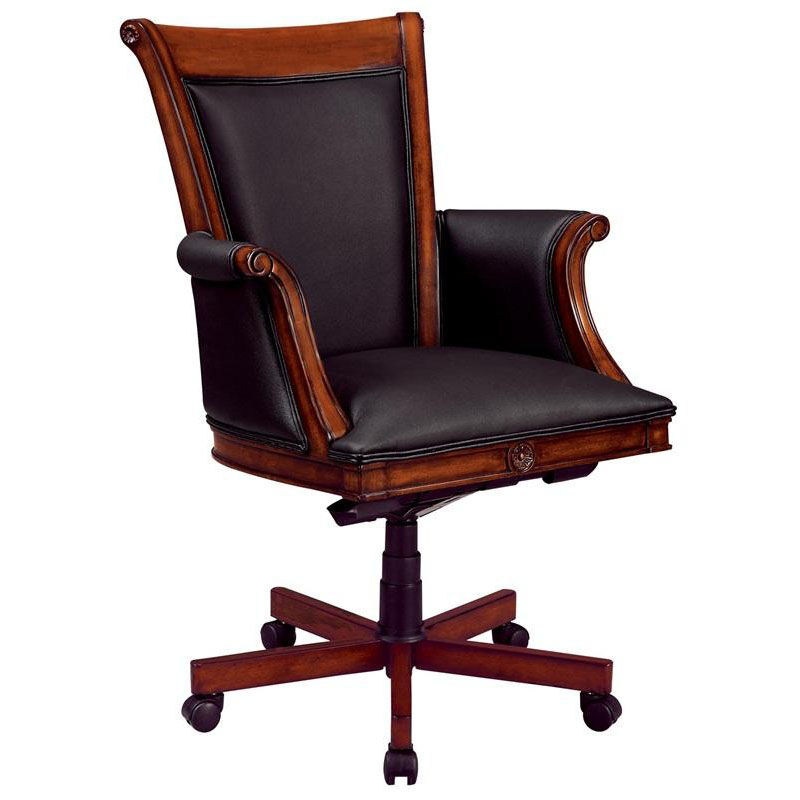 Flexsteel Antigua Executive High Back Chair With Wood And