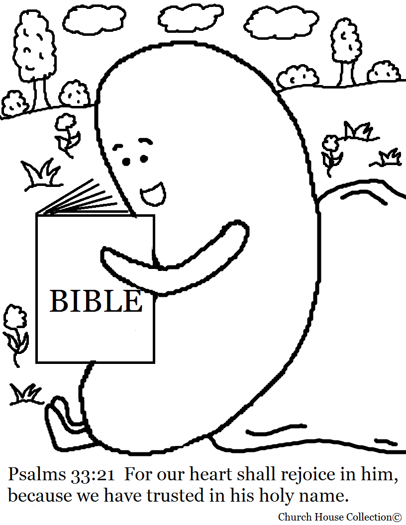 Jelly bean reading bible coloring page psalms 33 21