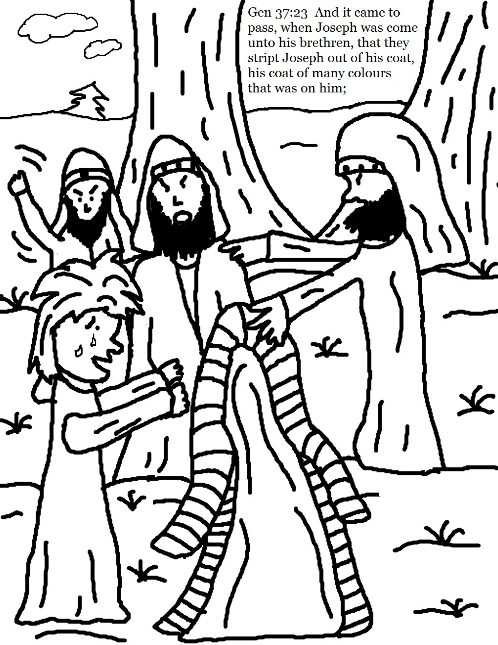 printable coloring pages joseph coat josephs coat of colors
