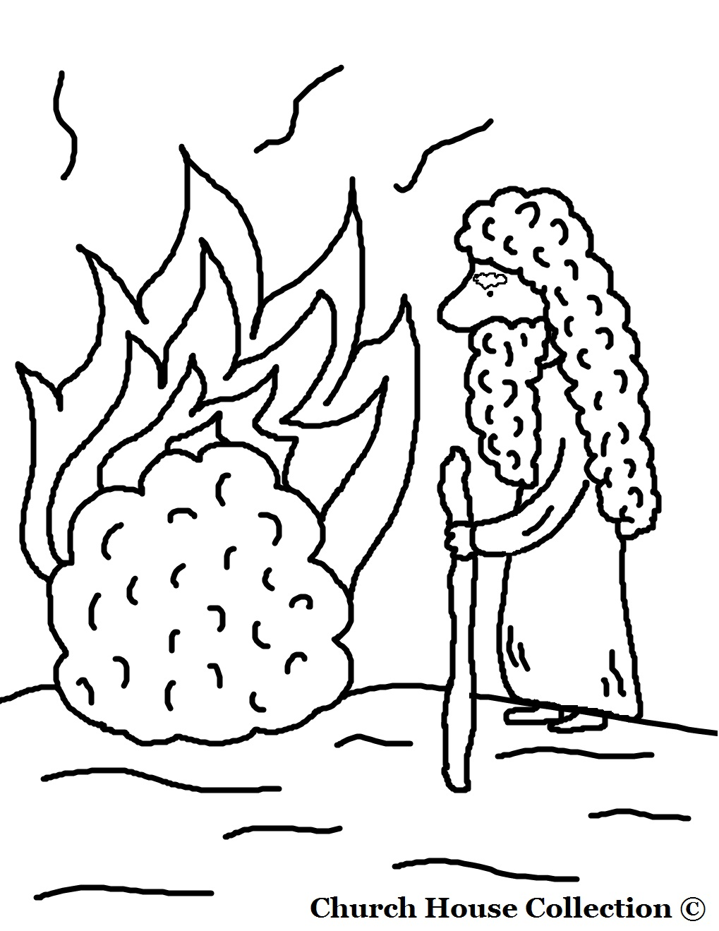 Coloring pages moses parts the red sea - Coloring Pages Moses Parts The Red Sea Moses And The Burning Bush Coloring Page Without