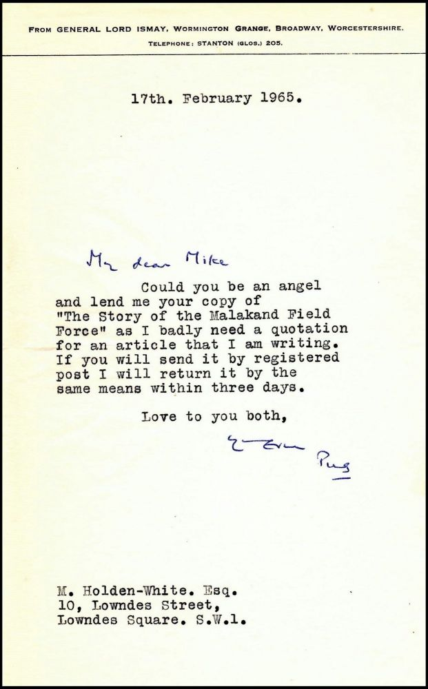 A letter from Winston Churchill\u0027s close friend and indispensable