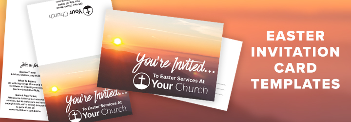 Help Your Church Invite Friends Free Easter Invite Template - Long Room