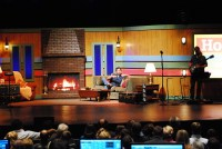 Bright and Cheery Living Room | Church Stage Design Ideas