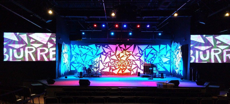 Buried Church Stage Design Ideas