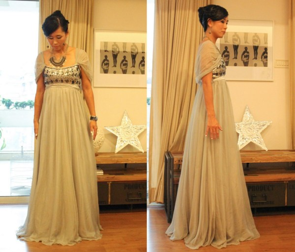 Silver Ball Gown