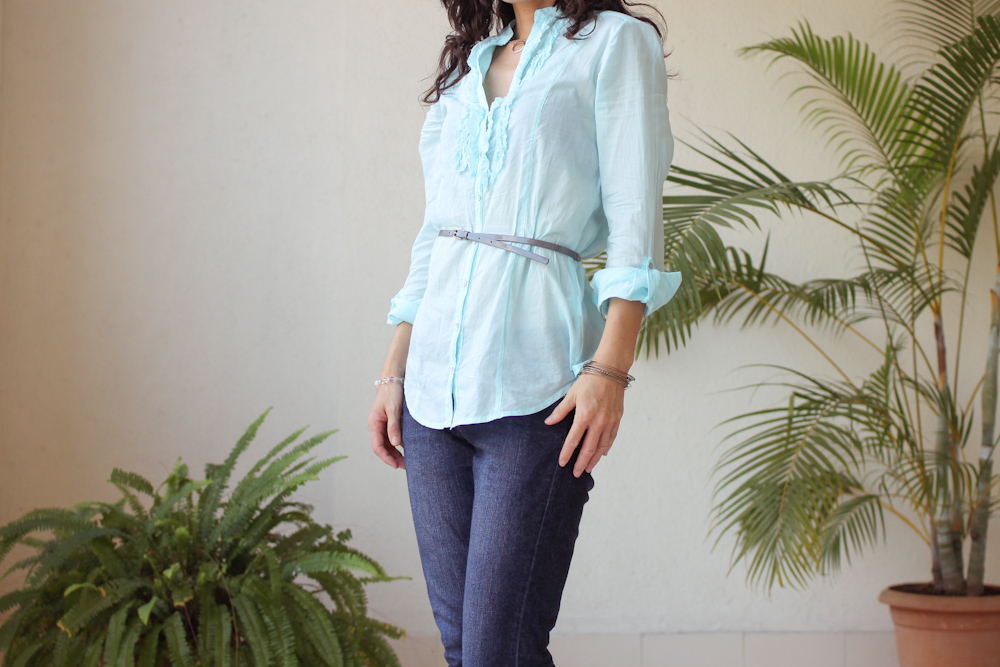 Monday Mode ☆ Cottonworld Blue Shirt