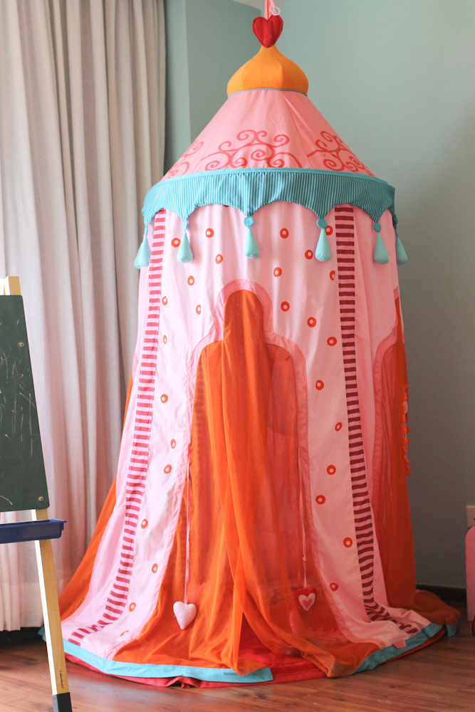 pink girl tent