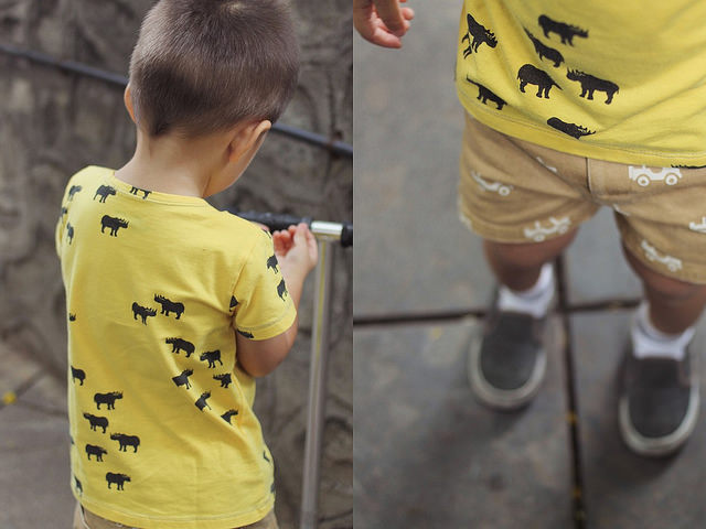 Monday Mode ☆ Yellow Rhino Shirt & Advantages Of A Third Child ☆ Le Petit Society